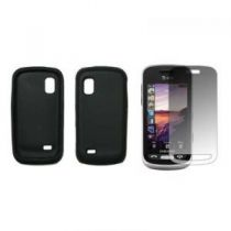 Bolsas Samsung - Bolsa silicone para Samsung S8500 Wave Preto