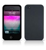 Bolsas Silicone/TPU iPhone - Bolsa Silicone para Apple iPhone 4 Preta