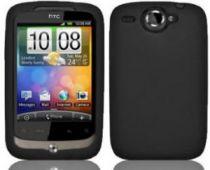 Comprar Bolsas - Bolsa Silicone para HTC wildfire Preto