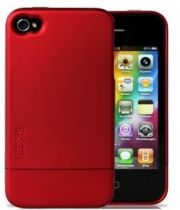 Protec��o Especial iPhone 4/4S - Bolsa Borracha R�gida Ultra-slim para iPhone 4 Vermelha