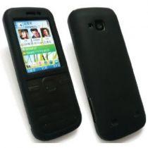 Bolsas - Bolsa Silicone para Nokia C5 Preta