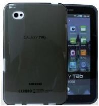 Accessori Galaxy Tab/Tab2 7.0 - Custodie Silicone Nero Translúcido per Samsung Galaxy TAB