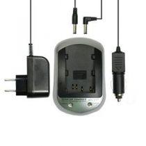 Caricabatterie Videocamere - Caricabatteria Samsung SLB-0837(B) + Carreg da Auto