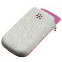 Custodie Blackberry - Custodia Pelle Bianco/Rosa Blackberry 9800 ACC-32840-201
