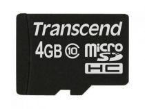 achat Micro SD / TransFlash - Transcend MicroSD SDHC 4Go Class 10