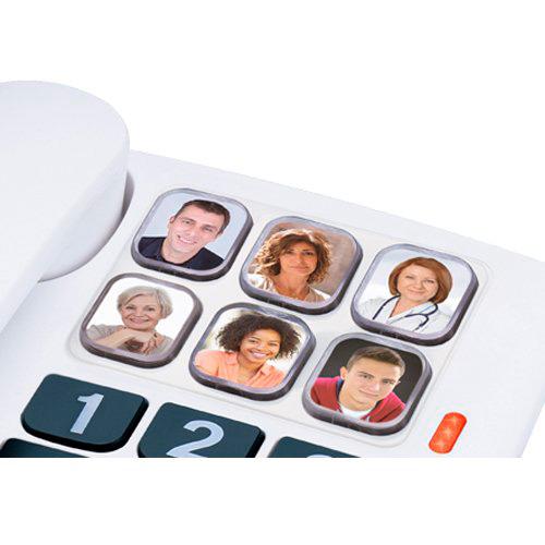 Telefone Alcatel TMAX 10 Teclas grandes 6 memorias directas Alta voz