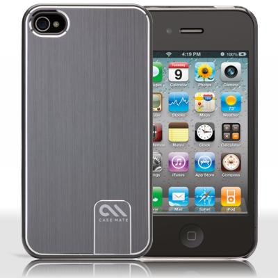 Protecção Especial iPhone 4/4S - case-mate CM014540 iPhone 4 Aluminium prata Barely There Cas