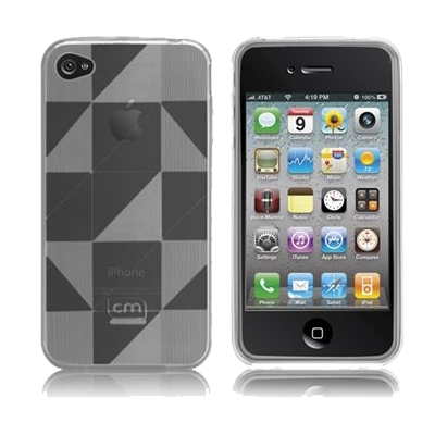 Protection Spéciale iPhone 4/4S - case-mate CM015408 iPhone 4 gelli case clear (checkmate) (S/