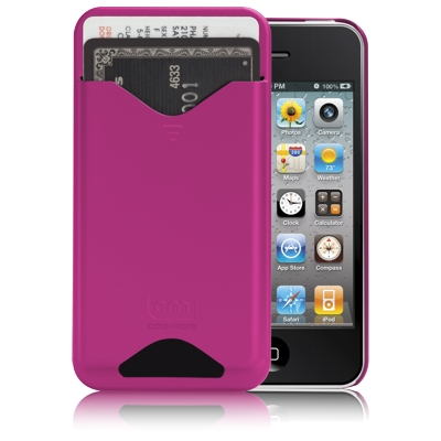 Protecção Especial iPhone 4/4S - case-mate CM015575 iPhone 4 ID Case rosa (Rubber) (S/PE)