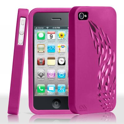 Protección Especial iPhone 4/4S - case-mate CM016304 iPhone 4 Safe Skin Emerge rosa