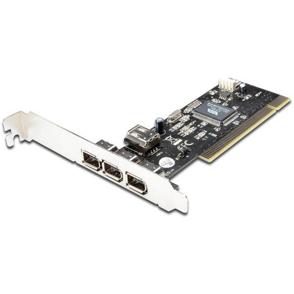 Revenda Acessórios Portátil - DIGITUS IEEE 1394A INTERFACE CARD PCI 4 PORT 2X6-PIN+1X4-PIN