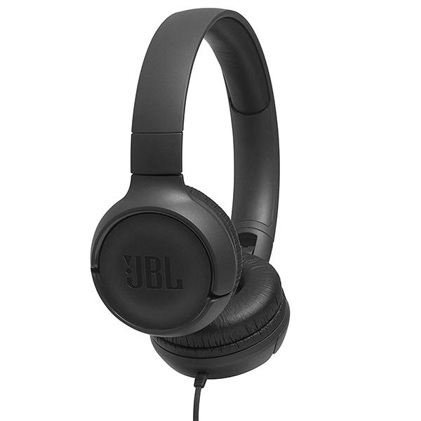 Auscultadores JBL - JBL HEADPHONES DOBRAVEIS C/ MICRO T500 BLACK