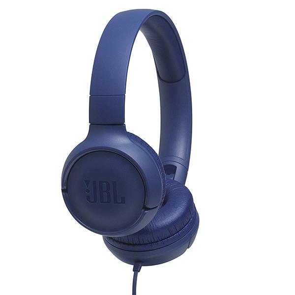 Auscultadores JBL - JBL HEADPHONES DOBRAVEIS C/ MICRO T500 BLUE