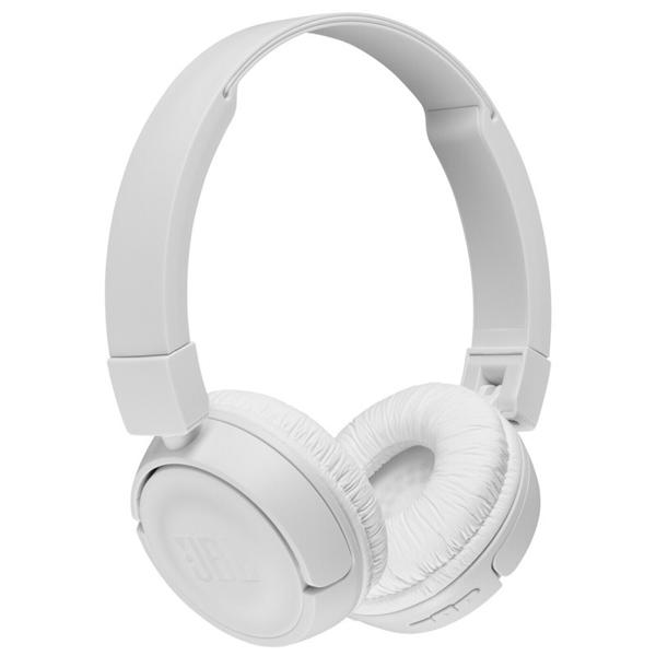 Auscultadores JBL - JBL HEADPHONES DOBRAVEIS C/ MICRO T510 BLUETOOTH Branco