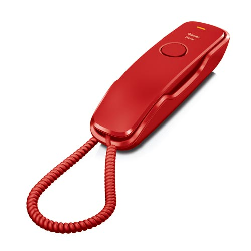 Telefones Fixos Analógicos - Telefone Gigaset Euroset DA210 vermelho mesa / mural tipo gondola