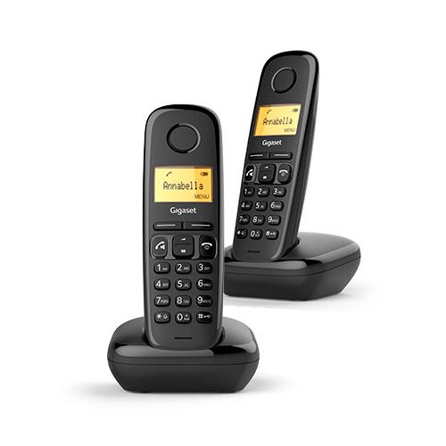 Telefoni cordless DECT - Telefono sem-fios dect Gigaset A270 Duo Nero