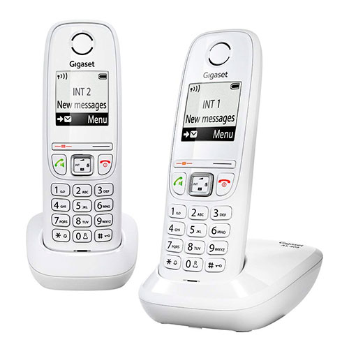 Telefoni cordless DECT - Telefono sem-fios Dect Siemens Gigaset AS405 Duo Bianco