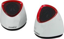 achat Haut-parleurs Autres marque - Enceintes MOOSTER  SK-488WR MULTIMEDIA GLOSSY ZOUND 2.0 Blan