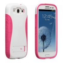Comprar Accesorios Galaxy S3 - Funda case-mate Pop protection Samsung Galaxy S3 i9300 Blanco Rosa CM021160
