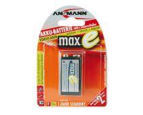 Comprar Pilas Recargables - Pila Recarg. 1 Ansmann maxE NiMH 9V block 200 mAh
