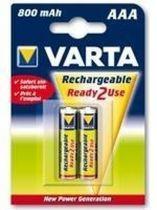 Comprar Pilas Recargables - Pila Recarg. 1x2 Varta AAA Ready2Use NiMH 800 mAH Micro