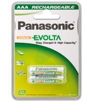 Comprar Pilas Recargables - Pila Recarg. 1x2 Panasonic NiMH Micro AAA 750 mAh Evolta