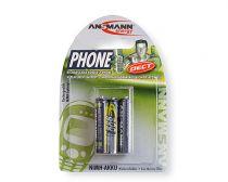 Comprar Pilas Recargables - Pila Recarg. 1x3 Ansmann maxE NiMH Micro AAA 800 mAh DECT