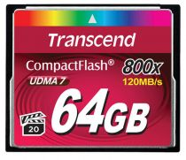 achat Compact Flash - Transcend Compact Flash 64Go 800x TS64GCF800