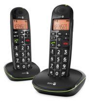 Comprar Teléfonos Inalámbricos DECT  - Telefono Inalambrico Doro PhoneEasy 100W Duo Negro