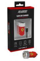 Comprar Cargadores Samsung - Cargador Mechero Dual Ferrari micro USB Rojo