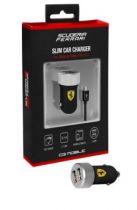 Comprar Cargadores Samsung - Cargador Mechero Dual Ferrari micro USB Negro FERUCC2UMIBL
