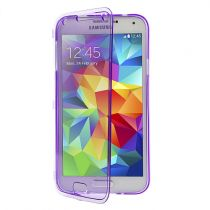 achat Accéssoires Galaxy S5 G900 - Étui tpu flip case Samsung Galaxy S5 G900 purpura transpare