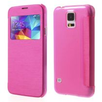 buy Accessories Galaxy S5  - Case Flip Case janela Samsung Galaxy S5 G900 Rose