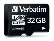 achat Micro SD / TransFlash - Verbatim MicroSDHC 32Go Class 10 + Adapter 44083