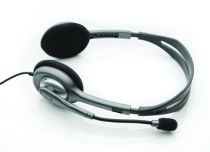 buy Logitech Headphones - Headphones Logitech H110 Stereo Headset silver retail