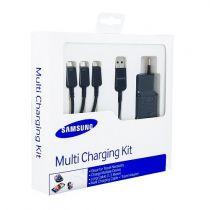 achat Accéssoires Galaxy S5 G900 - Kit Multi chargeur Samsung Galaxy S5 ET-KG900EBEGWW Noir