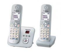 Comprar Teléfonos Inalámbricos DECT  - Telefono Panasonic KX-TG6822GS pearlsilver KX-TG6822GS