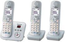 Comprar Teléfonos Inalámbricos DECT  - Telefono Panasonic KX-TG6823GS pearlsilver