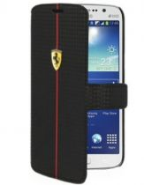 Comprar Bolsas Originais Ferrari - Ferrari Formula One Carbon Book Flip Case Galaxy Grand 2 BK
