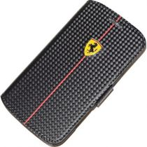 Comprar Fundas Originales Ferrari - Funda Ferrari Formula 1 Carbon Flip Case Galaxy Core Duos Dual S FEFOCFLBK8262BL