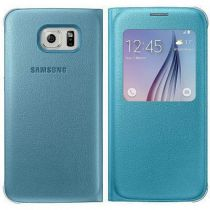 Comprar Accesorios Galaxy S6  - Funda Samsung S-View Cover PU Blue Galaxy S6
