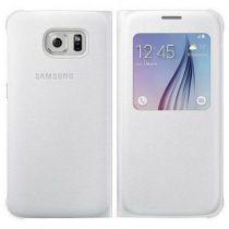 Comprar Accesorios Galaxy S6  - Funda Samsung S-View Cover PU Blanco Galaxy S6 EF-CG920PWEGWW