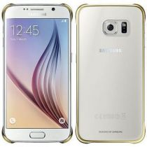 Comprar Accesorios Galaxy S6  - Funda Samsung Clear Cover Gold Galaxy S6