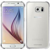 Comprar Accesorios Galaxy S6  - Funda Samsung Clear Cover Plata Galaxy S6 EF-QG920BSEGWW