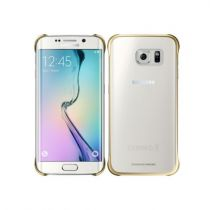Comprar Accesorios Galaxy S6 Edge - Funda Samsung Clear Cover Gold Galaxy S6 Edge