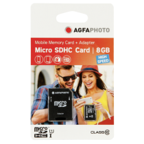 Comprar Micro SD / TransFlash - AgfaPhoto Mobile High Speed  8GB MicroSDHC Class 10 (+ Adapter) 10579