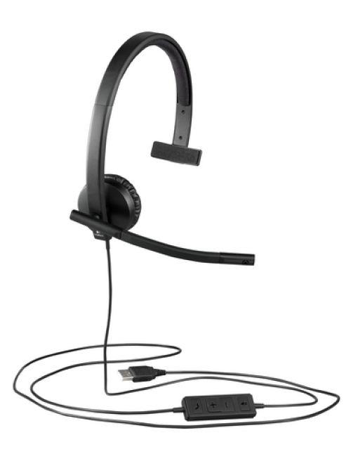 Cascos Logitech H570E USB Auriculares Mono