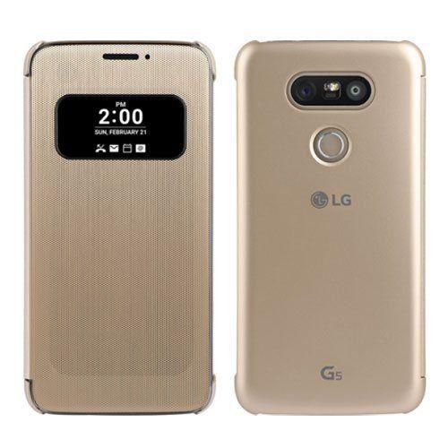 Étui LG Quick Circle Book-Cover CFV-160 G5,G5 SE gold