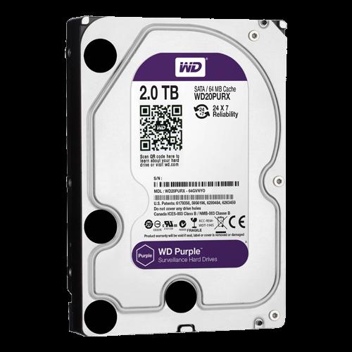 Western Digital Disco duro 2 TB Intérfase SATA 6 GB/s Modelo WD20PURX