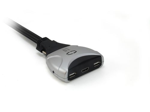 LEVEL ONE KVM SWITCH 2 PORTAS HDMI/USB, CableS